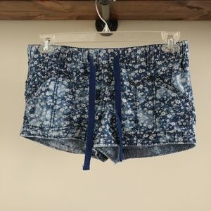 Mossimo Bleached Floral Jean Shorts